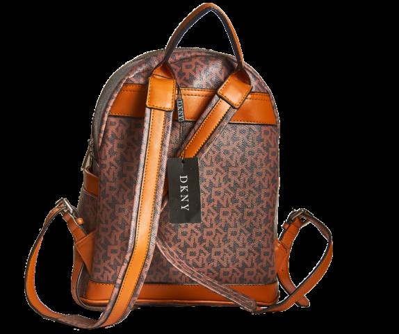 Фото кожаный коричневый рюкзак DKNY - 1